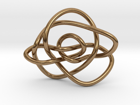 Ochiai unknot (Circle) in Natural Brass: Extra Small