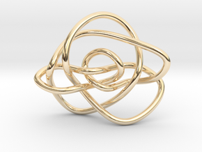 Ochiai unknot (Circle) in 14k Gold Plated Brass: Extra Small