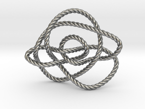 Ochiai unknot (Rope) in Natural Silver: Extra Small