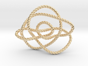 Ochiai unknot (Rope) in 14k Gold Plated Brass: Extra Small