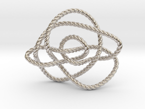 Ochiai unknot (Rope) in Rhodium Plated Brass: Extra Small
