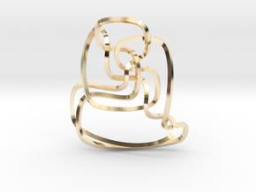 Thistlethwaite unknot (Square) in 14K Yellow Gold: Extra Small