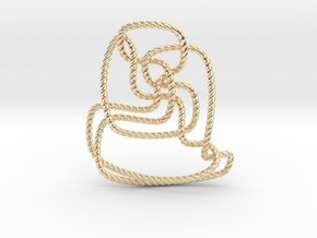 Thistlethwaite unknot (Rope) in 14K Yellow Gold: Extra Small