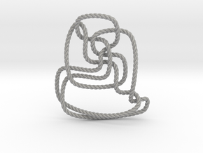 Thistlethwaite unknot (Rope) in Aluminum: Extra Small