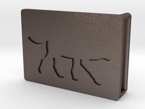 Belt Buckle - Wolf - M1SF in Polished Bronzed Silver Steel