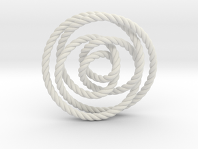 Rose knot 2/5 (Rope) in White Strong & Flexible: Extra Small