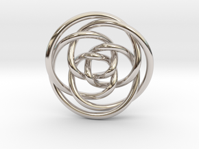 Rose knot 3/5 (Circle) in Platinum: Extra Small