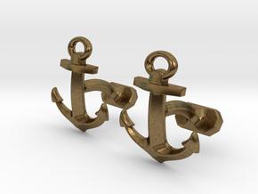 Anchor Cufflinks in Natural Bronze