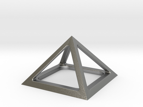Pyramid of Cheops in Natural Silver