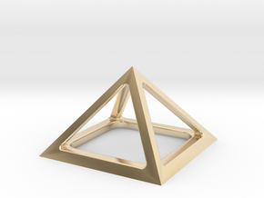 Pyramid of Cheops in 14k Gold Plated Brass