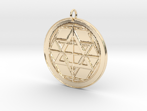 Martinist Pentacle II in 14k Gold Plated Brass