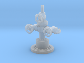 1/87th Well Head for oilfield pump jack in Smooth Fine Detail Plastic
