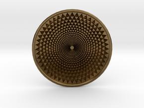 Sunflower Drop - 6cm in Natural Bronze