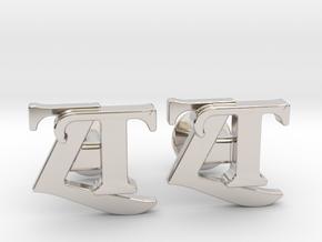 Monogram Cufflinks ZT in Platinum