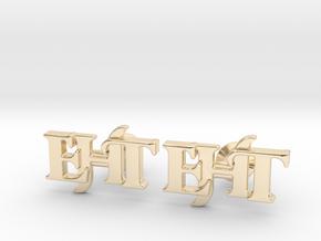 Monogram Cufflinks EHT in 14k Gold Plated Brass