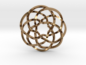 Rose knot 7/5 (Square) in Natural Brass: Extra Small