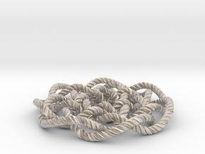 Rose knot 7/5 (Rope with detail) in Platinum: Medium