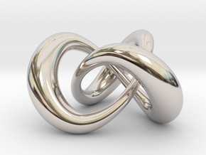 Varying thickness trefoil knot (Circle) in Platinum: Medium