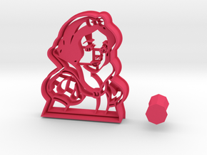 Disney's Snow White Cookie Cutter + handle in Pink Processed Versatile Plastic