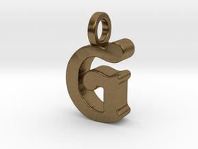 G - Pendant - 3 mm thk. in Natural Bronze