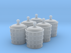 Big jars for chemicals 6x in Smooth Fine Detail Plastic: 1:45
