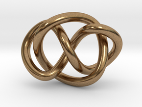 Whitehead link (Circle) in Natural Brass (Interlocking Parts): Extra Small