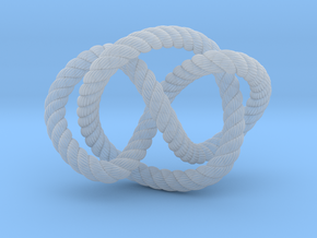 Whitehead link (Rope with detail) in Smooth Fine Detail Plastic: Extra Small
