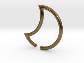luna ear weights in Polished Bronze