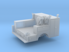Pickup Truck Service Bed With Crane 1-87 HO Scale in Smooth Fine Detail Plastic