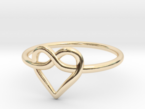 Infinity Love Ring  in 14K Yellow Gold: 5 / 49