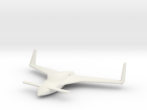 Cosy wing span 5cm/2in in White Natural Versatile Plastic