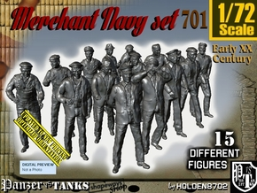 1/72 Merchant Navy Set701 in Smooth Fine Detail Plastic