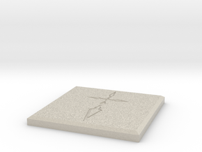 Fate/Zero Saber Command Seal Coaster in Natural Sandstone