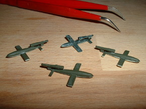 V1 Buzzbomb Fiseler (Fi103) 1/285 6mm in Smooth Fine Detail Plastic