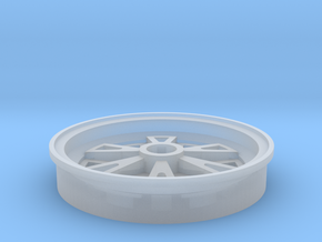 1/25 scale 1962 Halibrand front wheel in Smooth Fine Detail Plastic