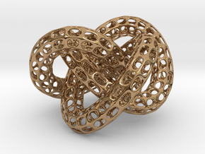 Webbed Knot with Intergrated Spheres in Interlocking Polished Brass