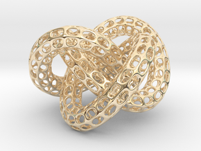 Webbed Knot with Intergrated Spheres in 14K Yellow Gold