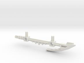 Bionicle staff (Whenua, set form) in White Natural Versatile Plastic