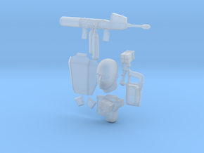 Accessorries in 1:10 scale in Smooth Fine Detail Plastic