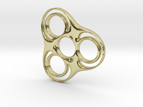 Trefoil-circle Spinner in 18k Gold Plated
