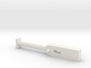 GEAR HANDLE in White Natural Versatile Plastic