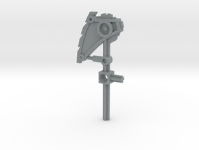 Bionicle weapon (Nuparu, set form) in Polished Metallic Plastic
