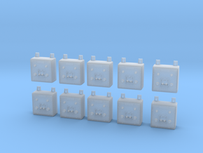 1/25 Wall Switch B Set x10 in Smooth Fine Detail Plastic