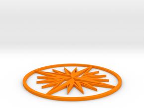 Compass  in Orange Processed Versatile Plastic