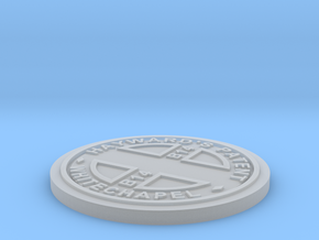 1:9 Scale Customizable Hayward manhole cover in Smooth Fine Detail Plastic