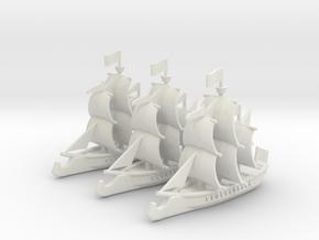Ram Frigate Squadron, 22 gun: 1/500 scale in White Natural Versatile Plastic