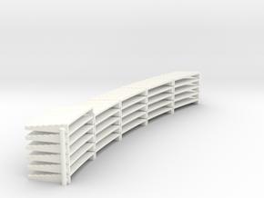 YT1300 DEAGO ENGINE INNER EXHAUST PLATES in White Processed Versatile Plastic