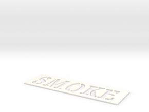 spray pattern smoke in White Processed Versatile Plastic