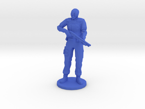 1/24 Solid Edited Leon Holding Shotgun in Blue Processed Versatile Plastic