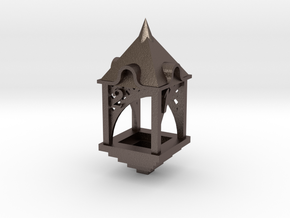 Gazebo d4 in Polished Bronzed Silver Steel
